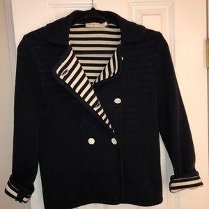 Tory Burch jacket bea navy striped lapel